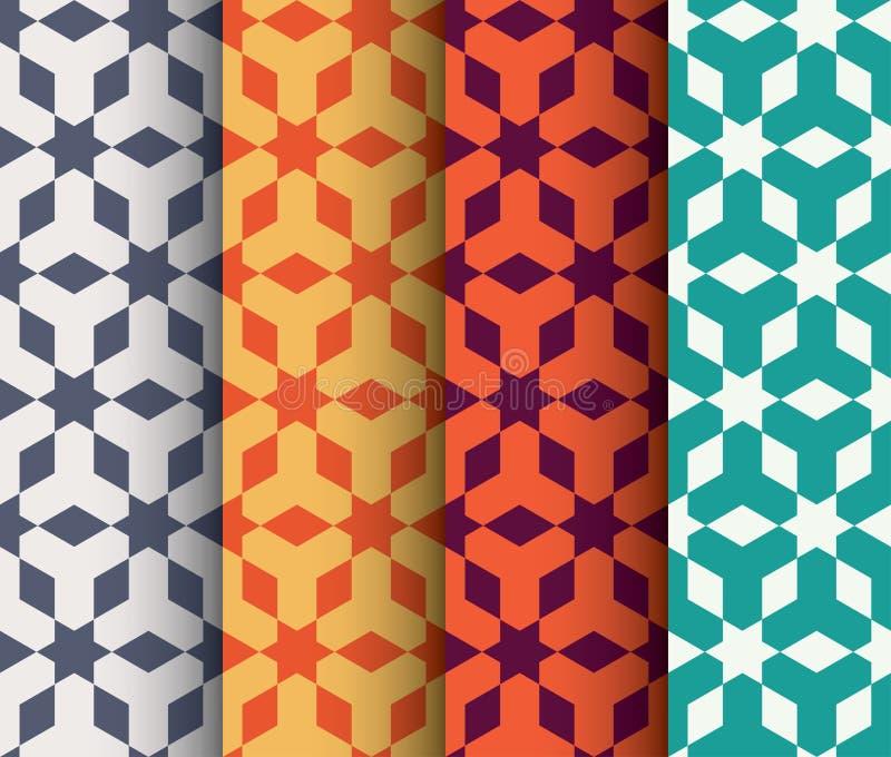 Set Islamski geometrical wzór ilustracji