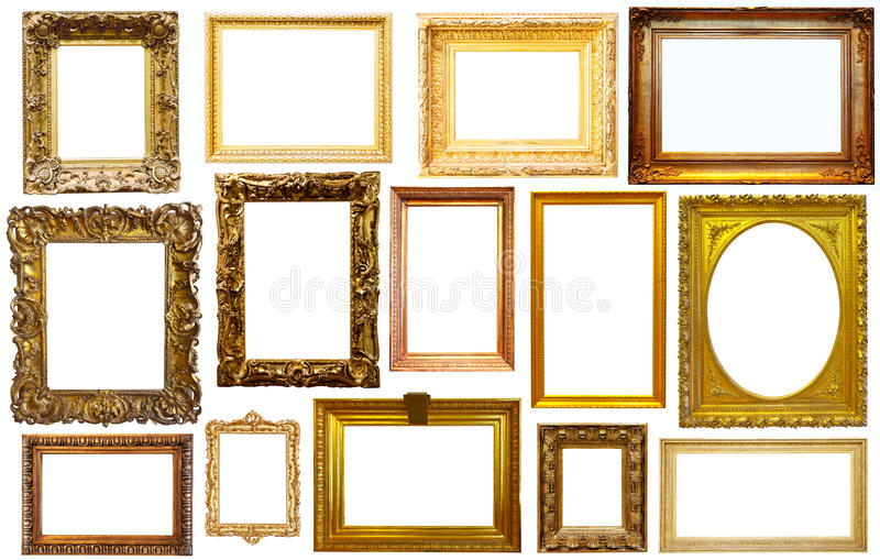 Set of isolated frames stock photos