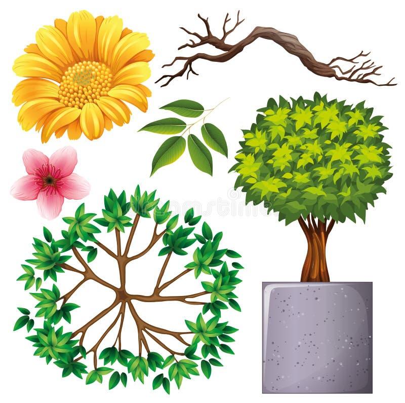 Set of isolated objects theme gardening. Illustration stock illustration