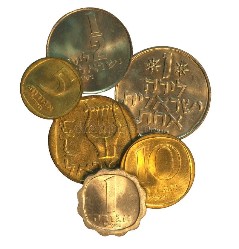 Set Israel-Münzen stockbild