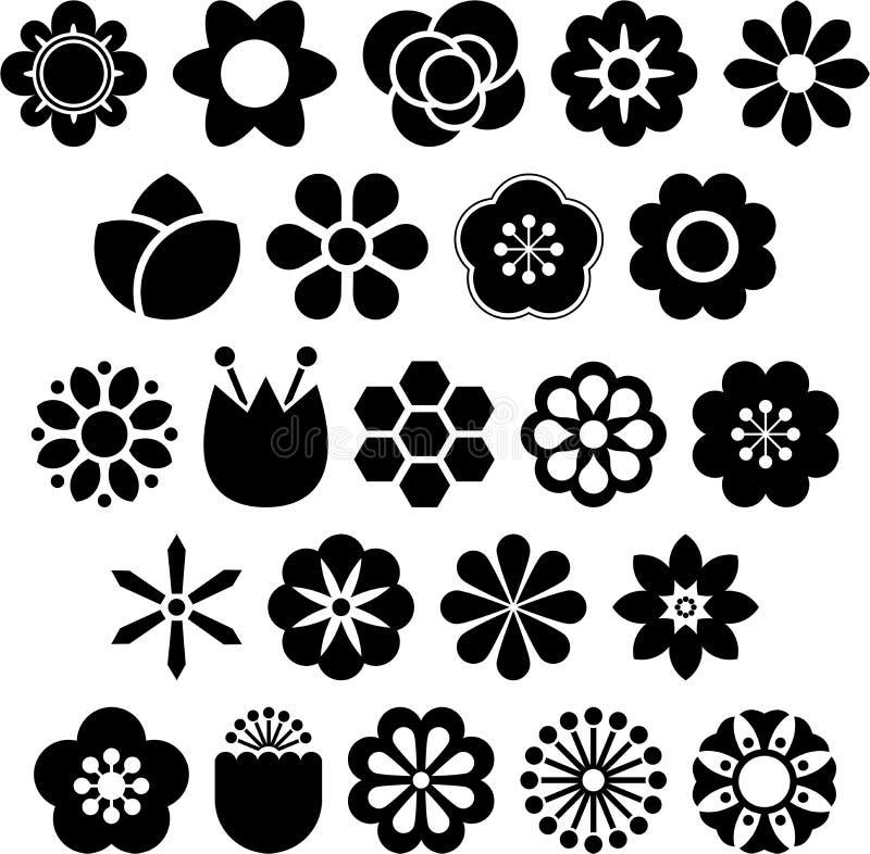 Download Set of ized flowers stock vector. Image of nature, garden - 28568042