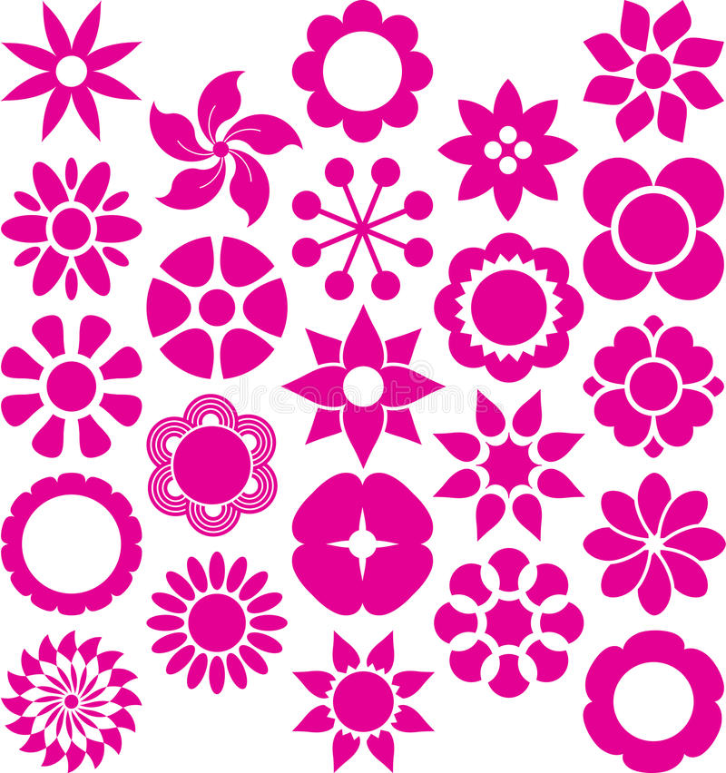 Download Set of ized Flowers stock vector. Illustration of background - 32009115
