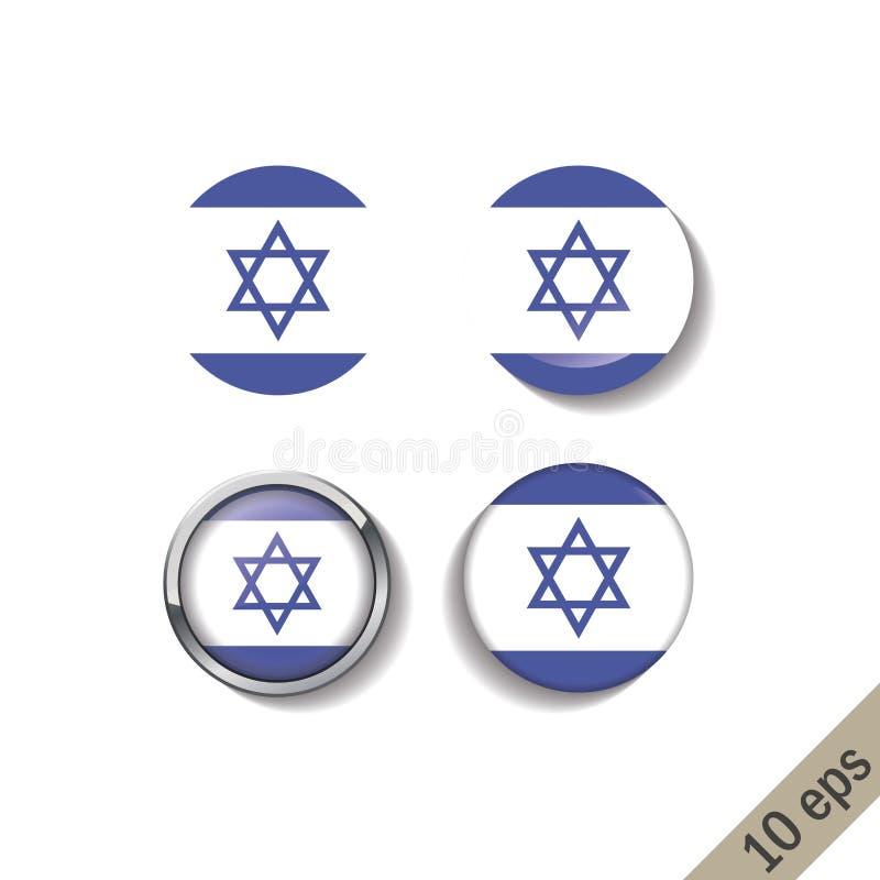 Set IZRAEL zaznacza wokoło odznak ilustracja wektor
