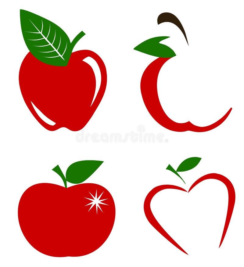 Set jabłka wektorowi ilustracja wektor