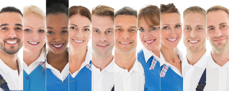 Set Of Janitors royalty free stock image
