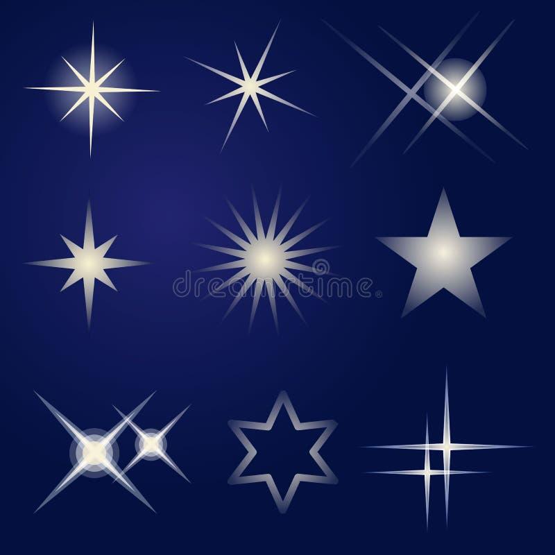 Set jaskrawe gwiazdy obraz stock