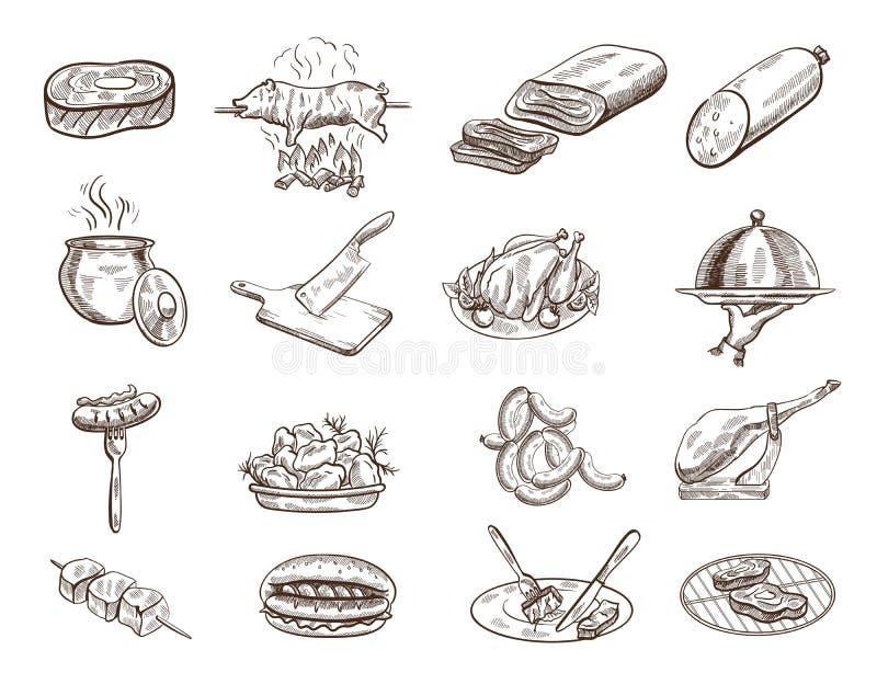 Set jedzenie royalty ilustracja