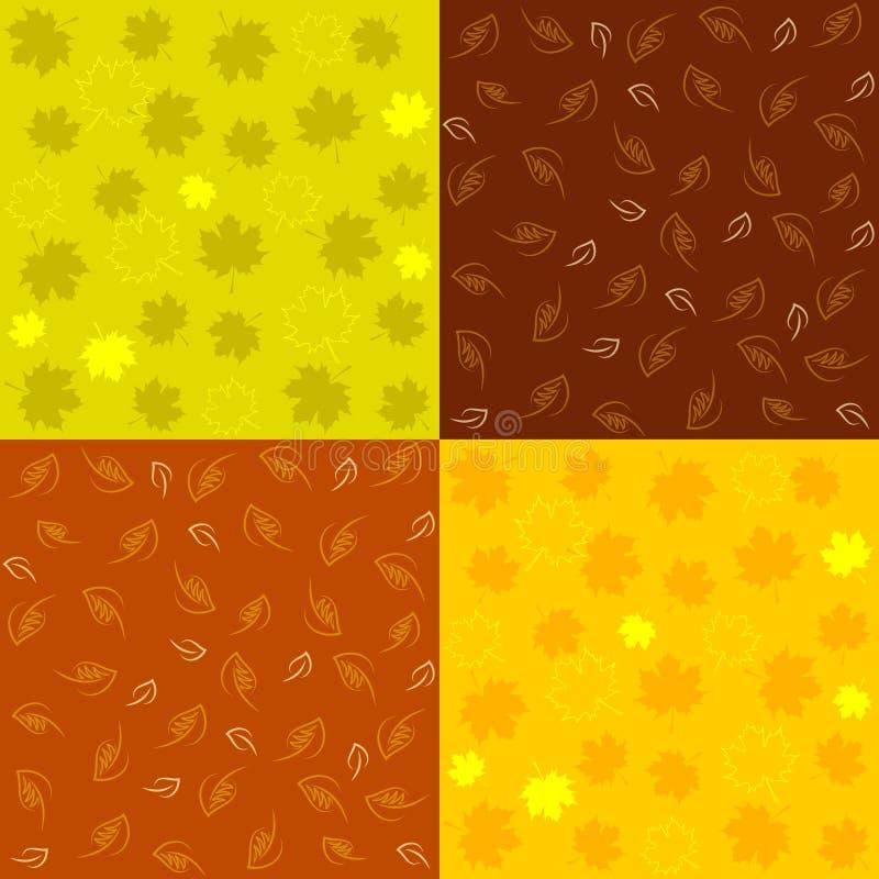 Set jesień Bezszwowi wzory ilustracja wektor