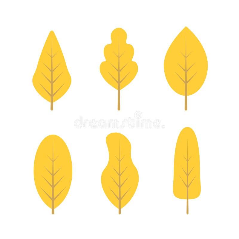 Set jesieni drzewa obrazy royalty free