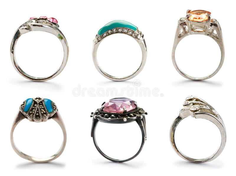 Download Set of jewellery rings stock image. Image of jewellery - 24759279