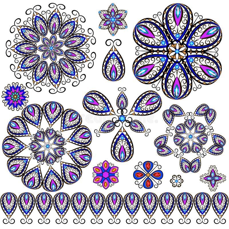 Set of jewelry, design element. vector illustration