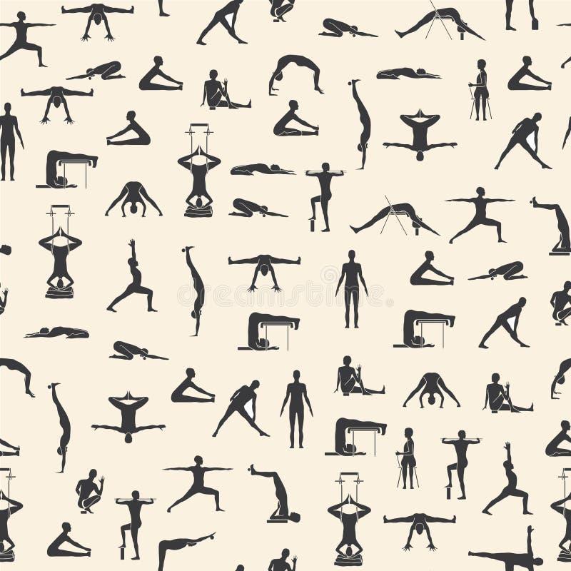 Set joga pozy royalty ilustracja