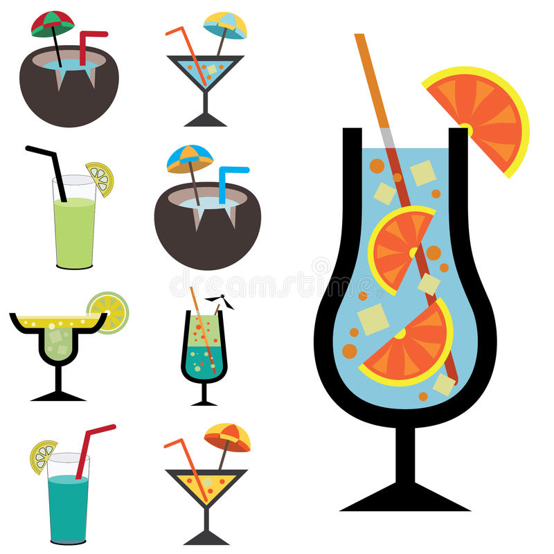 Set of juice icons stock images