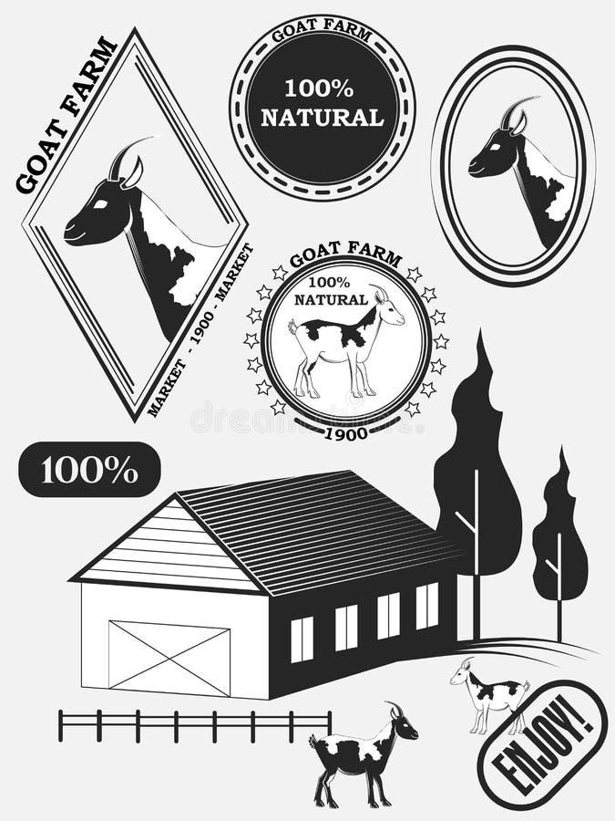 Set kózek etykietki, odznaki i projektów elementy, ilustracja wektor
