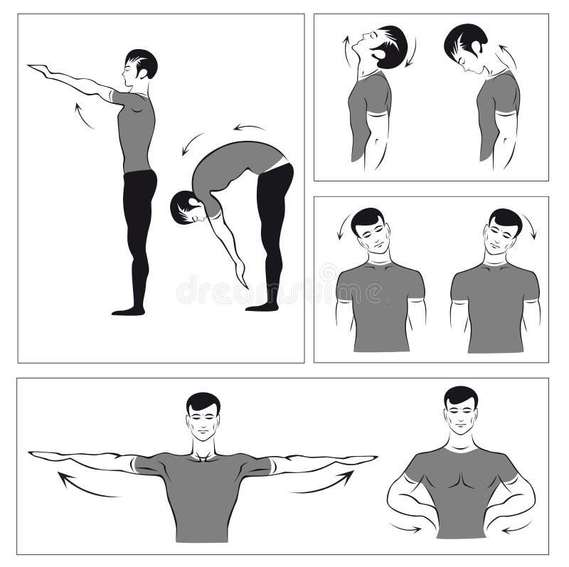 Set körperliche Übungen vektor abbildung