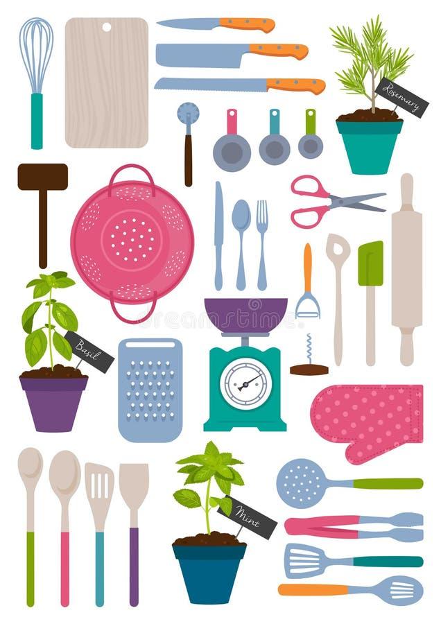 Set Küchehilfsmittel vektor abbildung