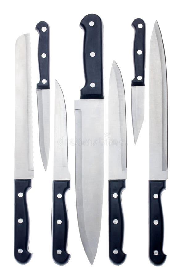 Set Küchemesser lizenzfreies stockbild
