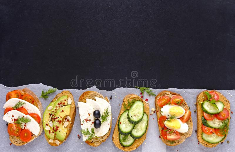 Set kanapki z kopii przestrzenią zdjęcie royalty free