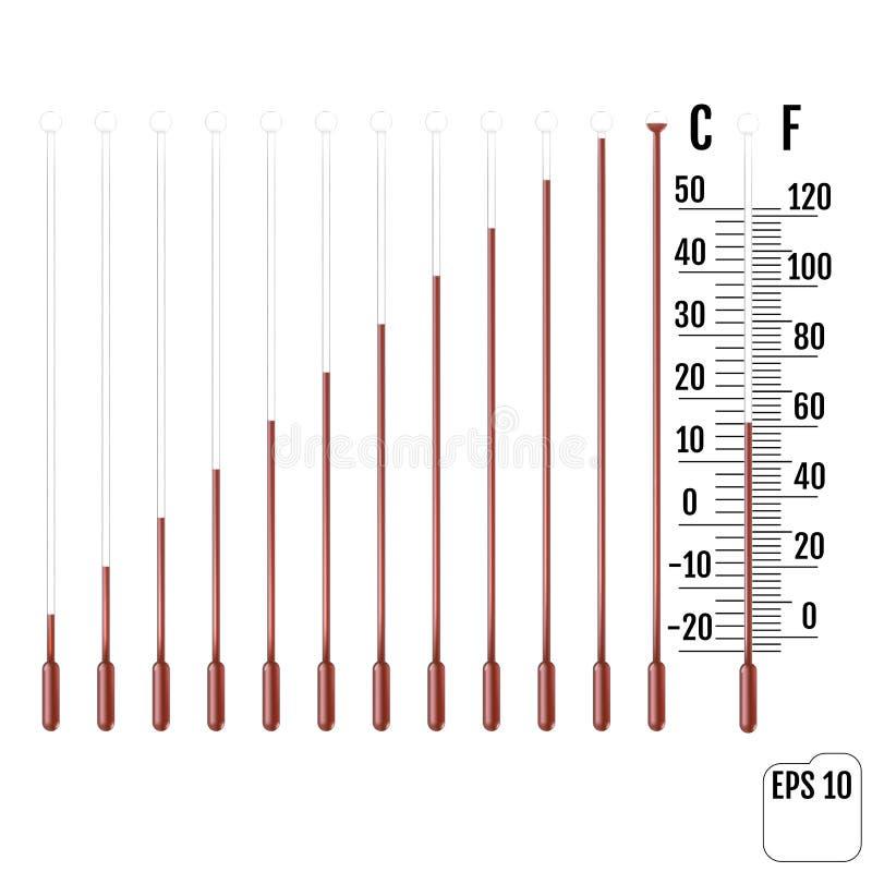 Set kapilarna tubka z fluidem, żarówka i przeciążenie sala norma ilustracji