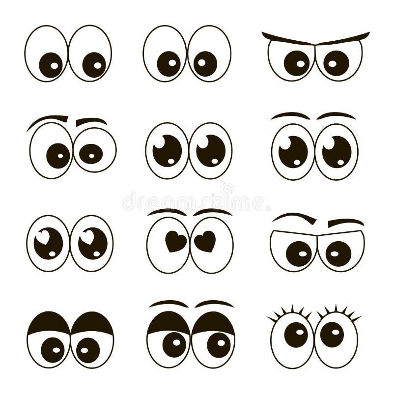 Set Karikaturaugen stock abbildung
