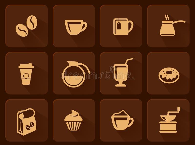 Set kawowa ikona royalty ilustracja
