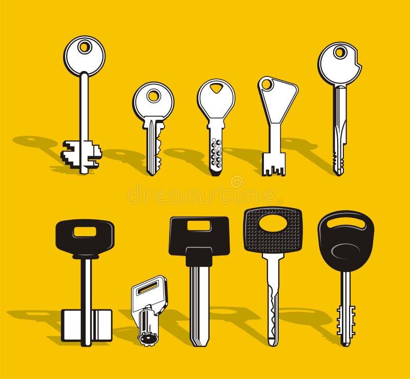 Set of Keys stock illustration