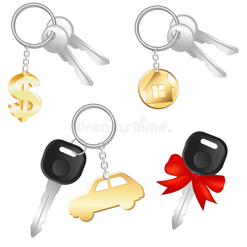 Download Set Of Keys. Vector stock vector. Image of estate, collection - 17888619