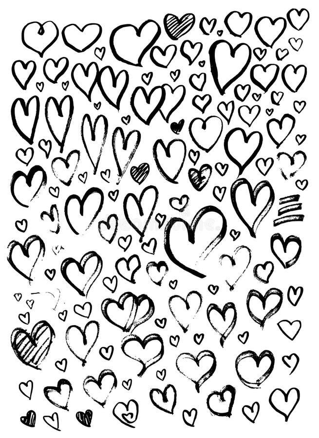 Set Kierowa ilustracyjna ręka rysujący doodle nakreślenia linii wektor e ilustracja wektor