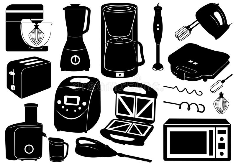 Download Set Of Kitchen Appliances stock vector. Image of kitchen - 29389110