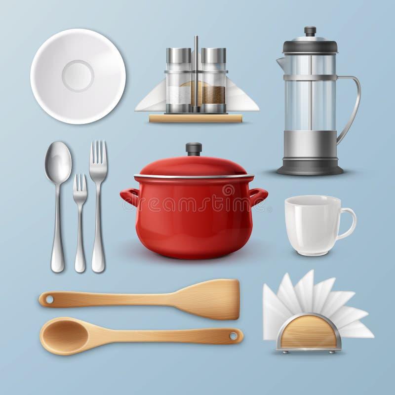Set kitchenware ilustracja wektor