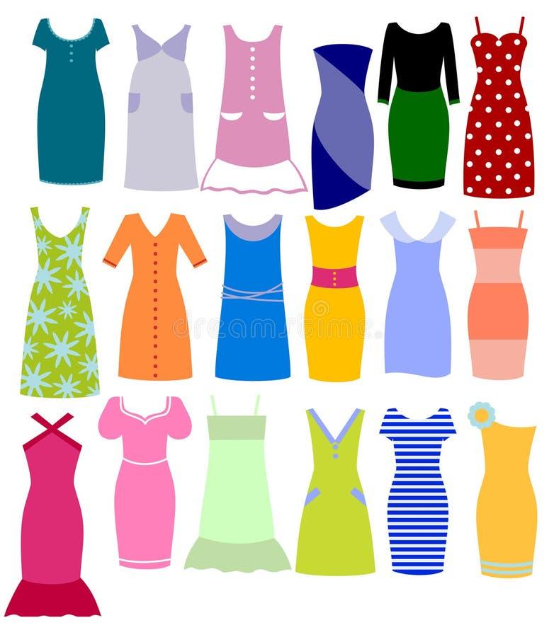 Set Kleidung lizenzfreie abbildung
