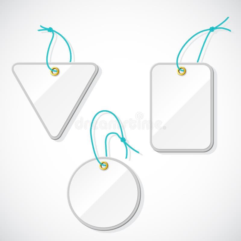 Set klingeryt etykietki na arkanie ilustracji