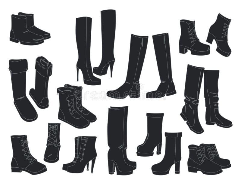 Set kobieta buty royalty ilustracja