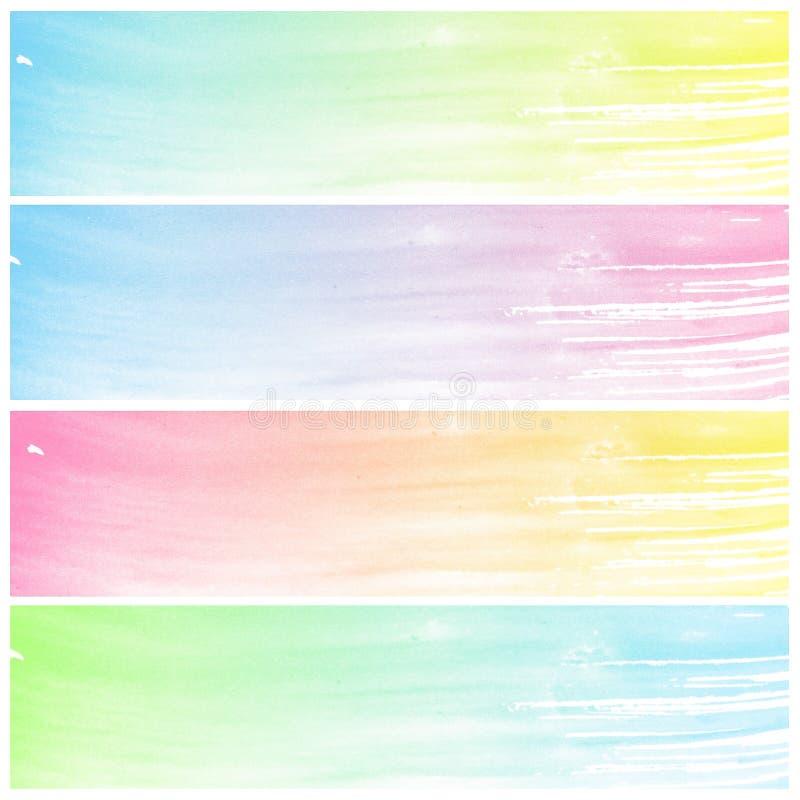 Set kolorowa Abstrakcjonistyczna wodnego koloru sztuka ilustracji
