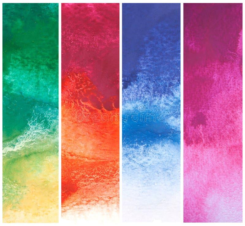 Set kolorowa abstrakcjonistycznej sztuki woda ilustracja wektor