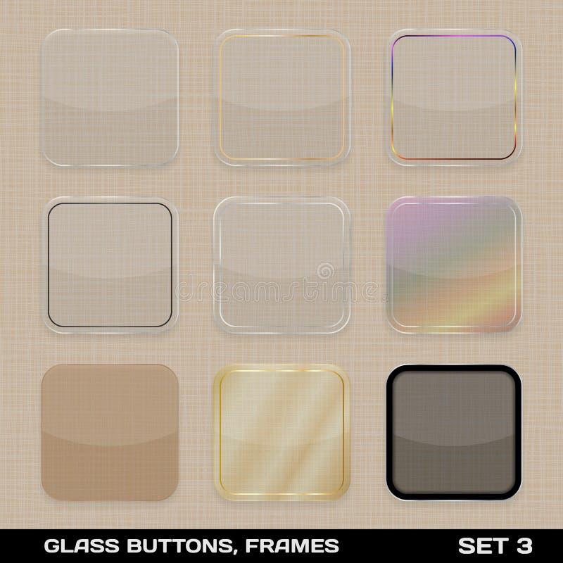Set Kolorowa App ikony rama ilustracji
