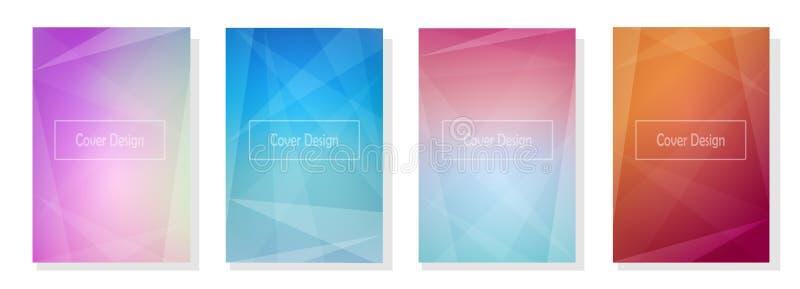 Set kolorowi geometryczni tła obraz royalty free