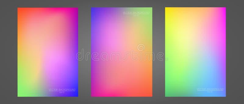 Set kolorowi gradienty zdjęcie royalty free