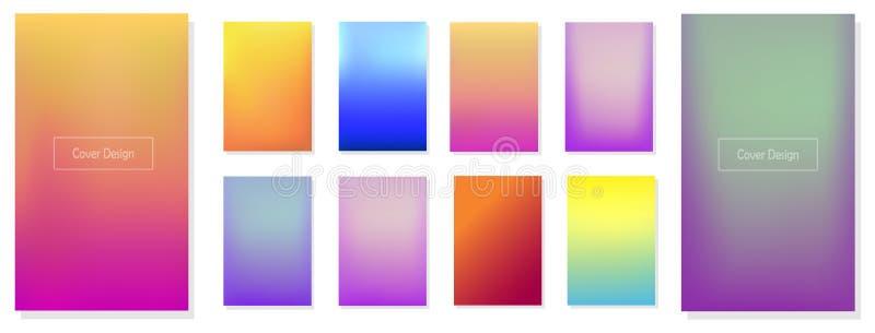 Set kolorowi gradienty obrazy royalty free