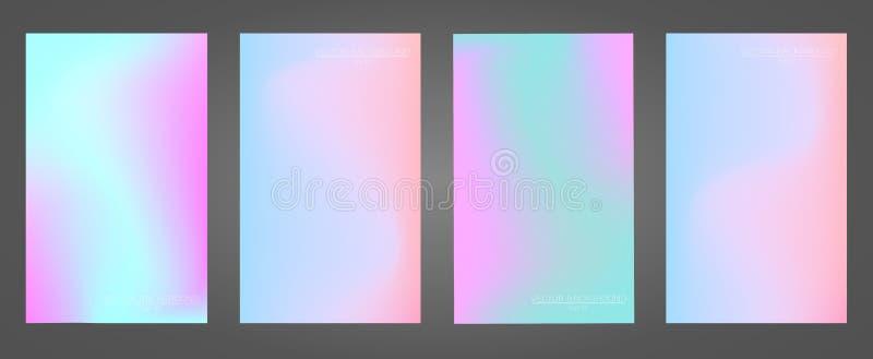 Set kolorowi gradienty obraz royalty free