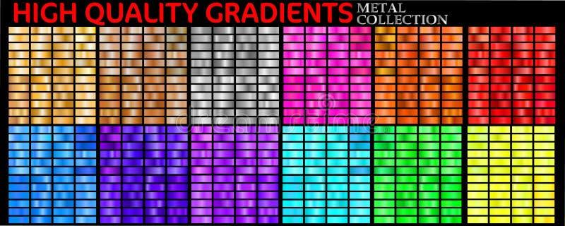 Set kolorowi gradienty ilustracja wektor