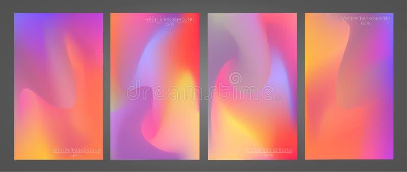 Set kolorowi i nowożytni tła obraz royalty free