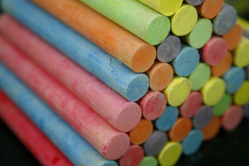 Set kolorowi kawałki kreda zdjęcia royalty free