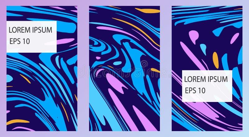 Set kolorowi szablony dla opowieści, broszury, miejsca, sztandary Purpury i b??kit?w kolory ilustracji