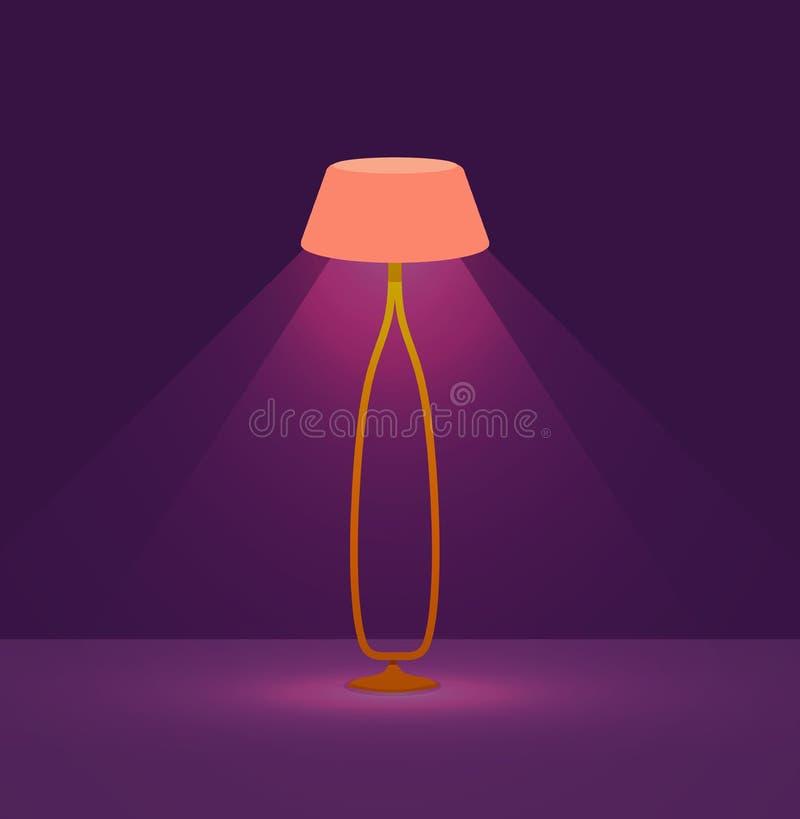 Set kolorowy kreskówek podłogowych lamp światło ilustracja wektor