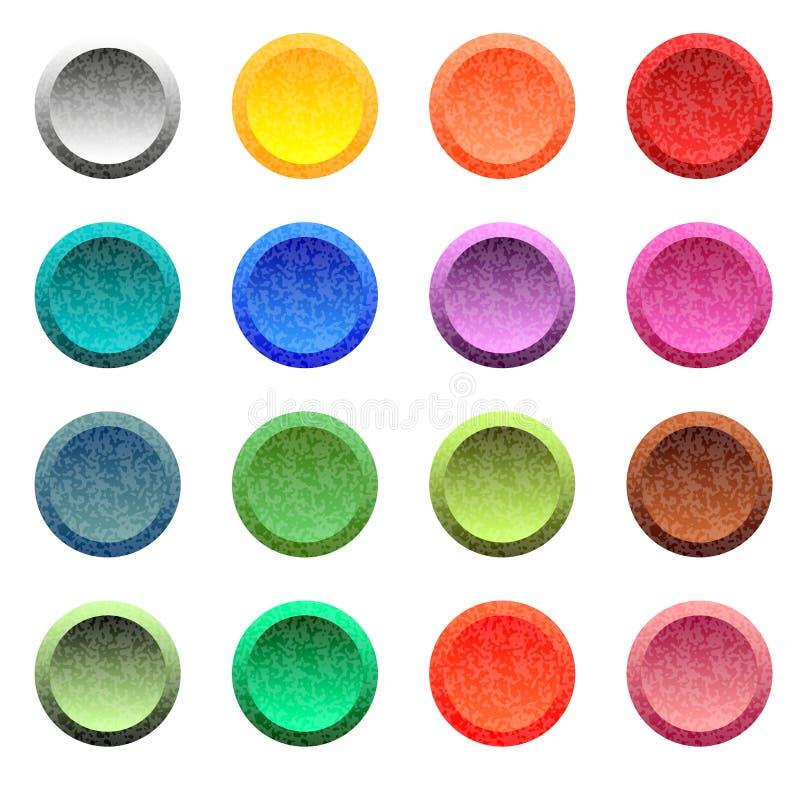 Set kolorowy round zapina dla strony internetowej lub app ilustracji