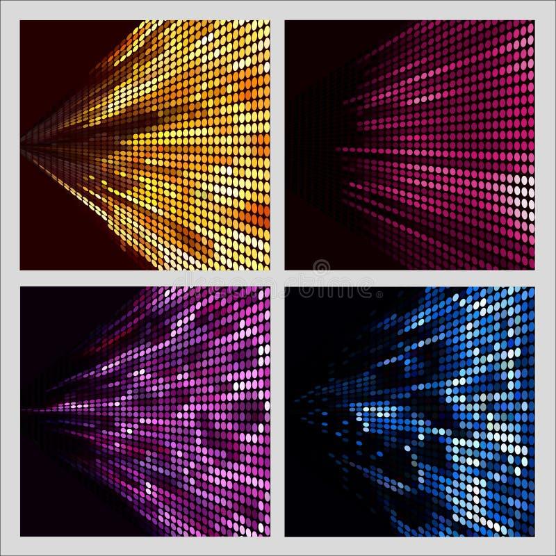 Set kolorowych kropek abstrakcjonistyczni tła dla projekta royalty ilustracja