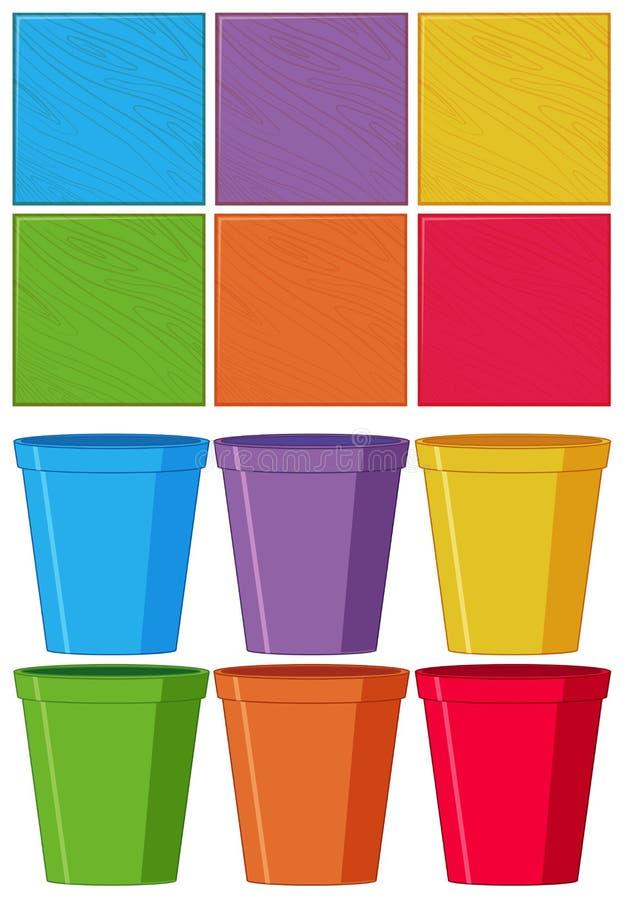 Set koloru przedmiot ilustracji