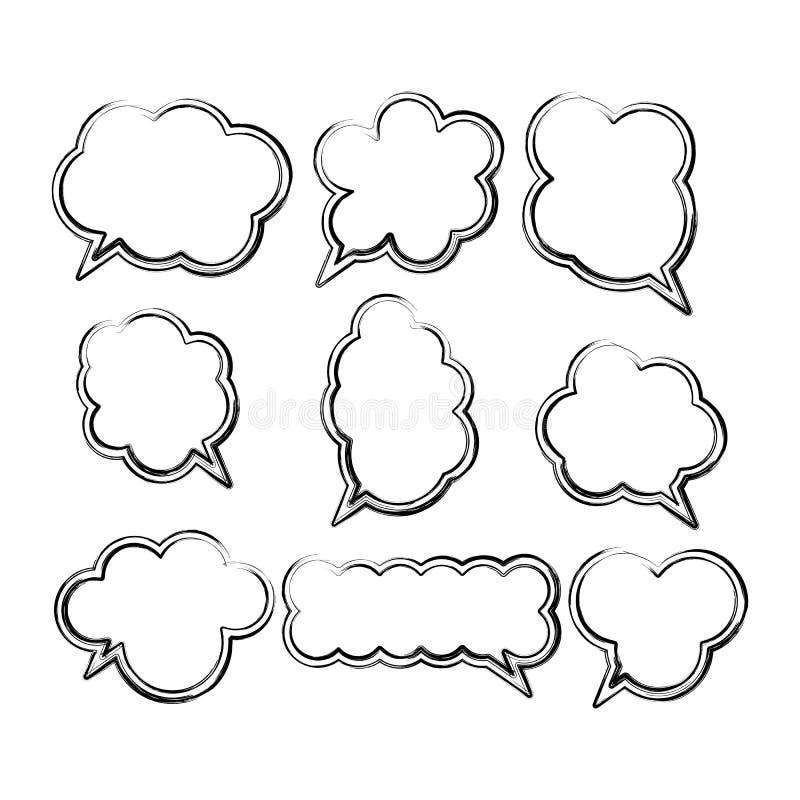 Set komische Spracheluftblasen vektor abbildung
