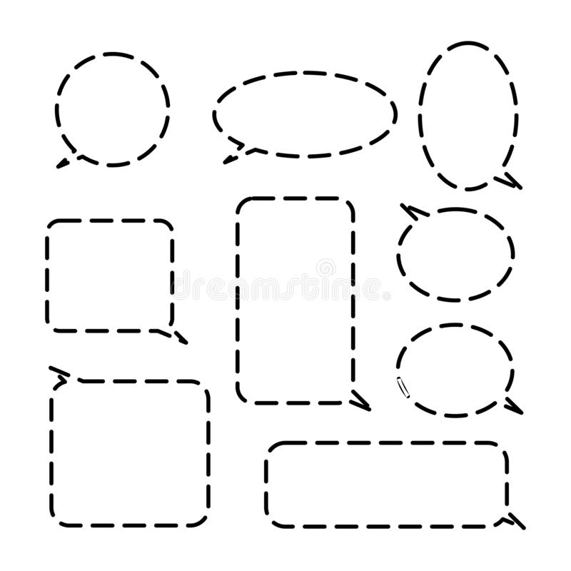 Set komische Spracheluftblasen lizenzfreie abbildung